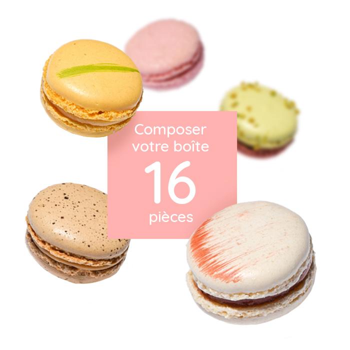 Boite de 16 macarons à composer